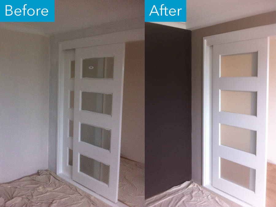 Atwell Glazed-doors before after by Craig at Perth Metro Painting