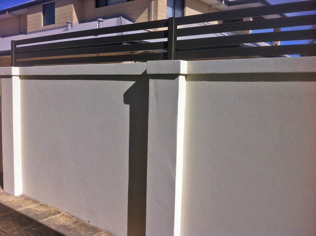 Exterior Fence repainted render Shelley by Perth Metro Painting