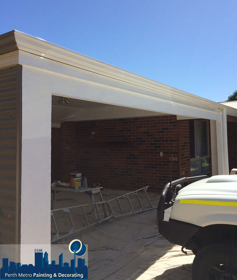 Guildford Garage Gutter and Fascia Repaint gloss photo by Perth Metro Painting Craig Ewart